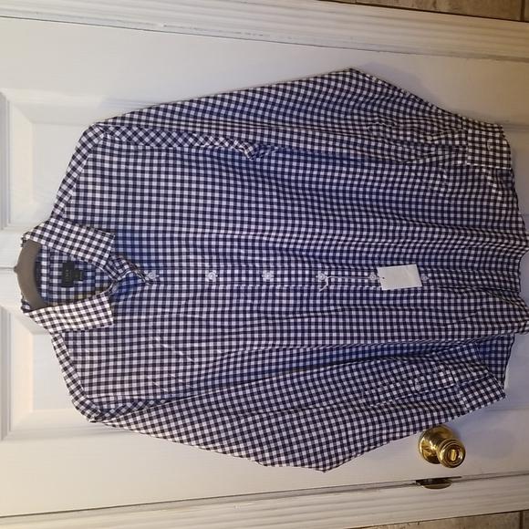 NWT J. Crew Blue and White Check Shirt